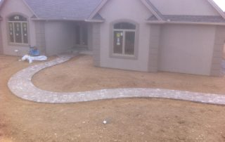 Project in middle of our landscaping services